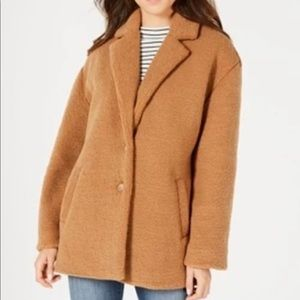 Brown Teddy Coat Jacket